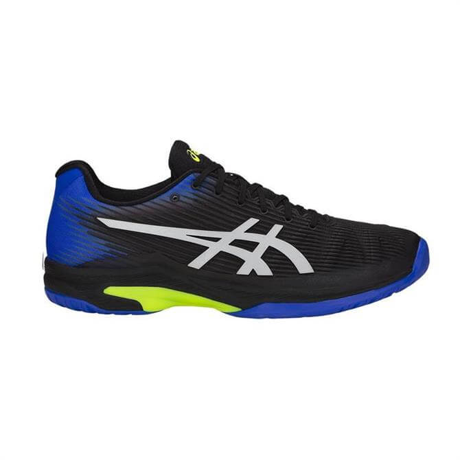Asics Men's Solution Speed FF Tennis Shoes - Black Illusion Blue
