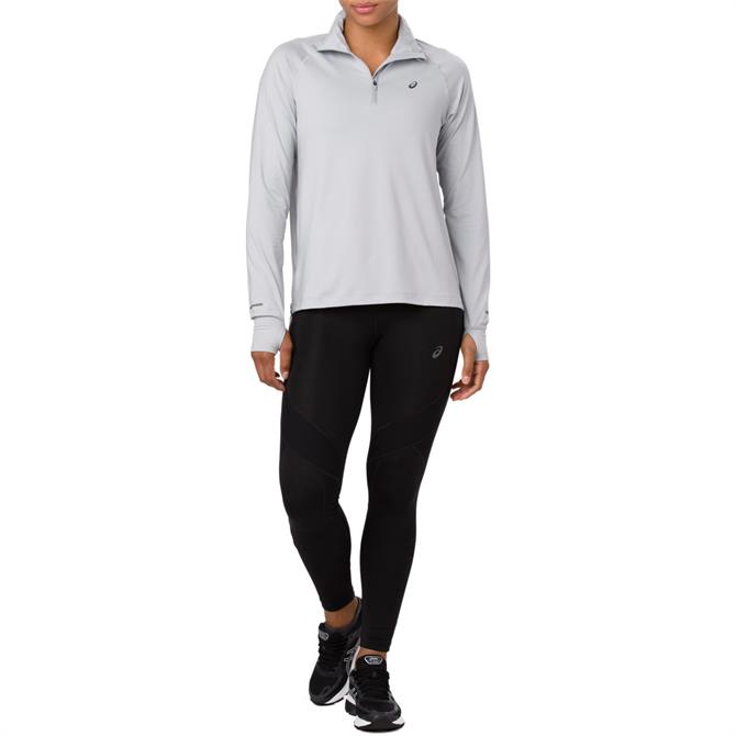 Asics Women's Thermopolis Half Zip Long Sleeve Running Top - Mid Grey
