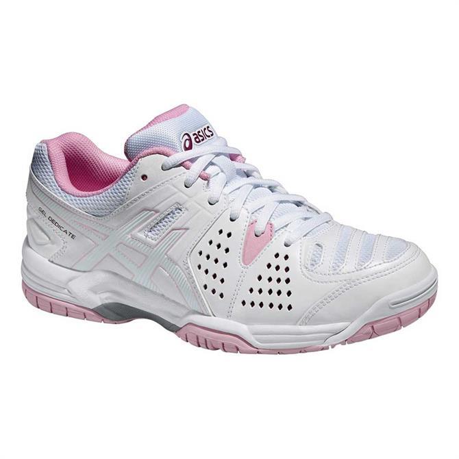 Asics Womens Gel Dedicate 4 - White Pink