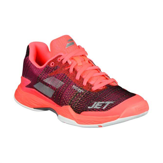 Babolat Women's Jet Mach II All Court Tennis Shoes- Fluo Pink