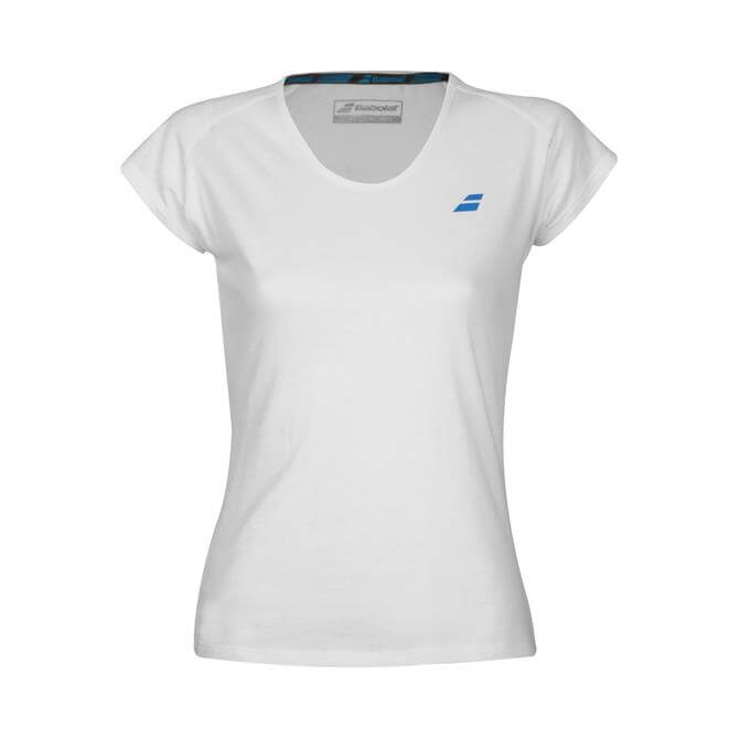 Babolat Junior Core Short Sleeve Tennis T-Shirt - White