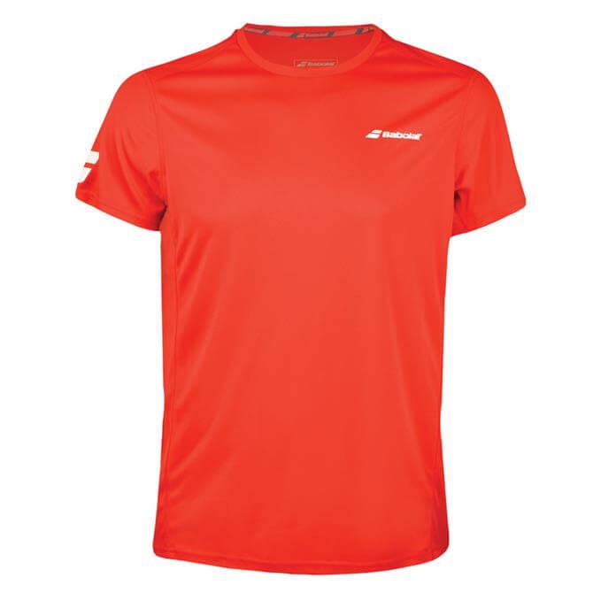 Babolat Men's Core Flag Club Tennis Short Sleeve- Red
