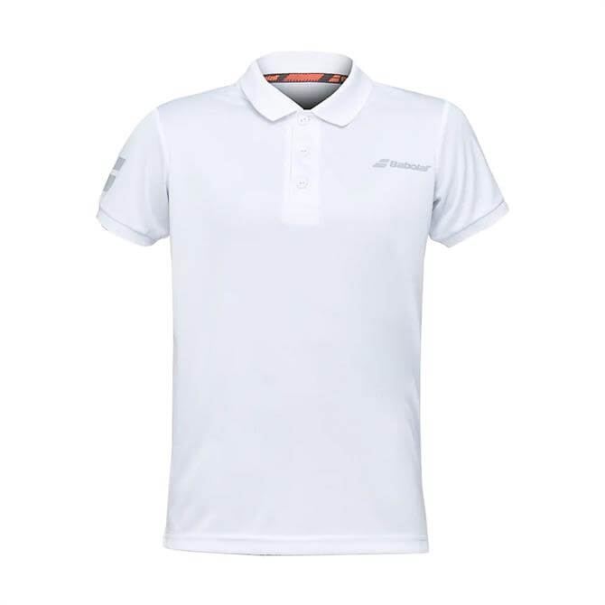 Babolat Junior Core Club Tennis Polo Top - White