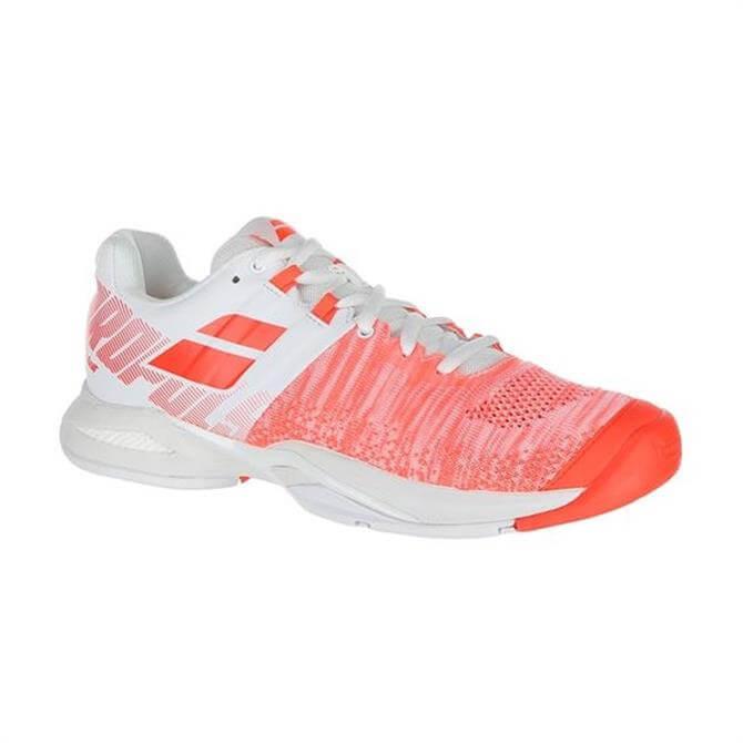 Babolat Women's Propulse Blast All Court Tennis Shoe – White Fluo