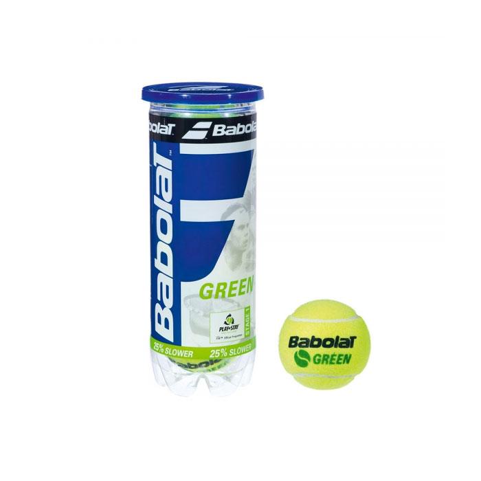 Babolat Green Tennis Balls- Tube Of 3 - YELLOW