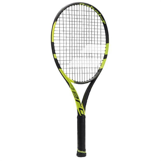 Babolat Junior Pure Aero 25 Tennis Racquet- Black/Yellow