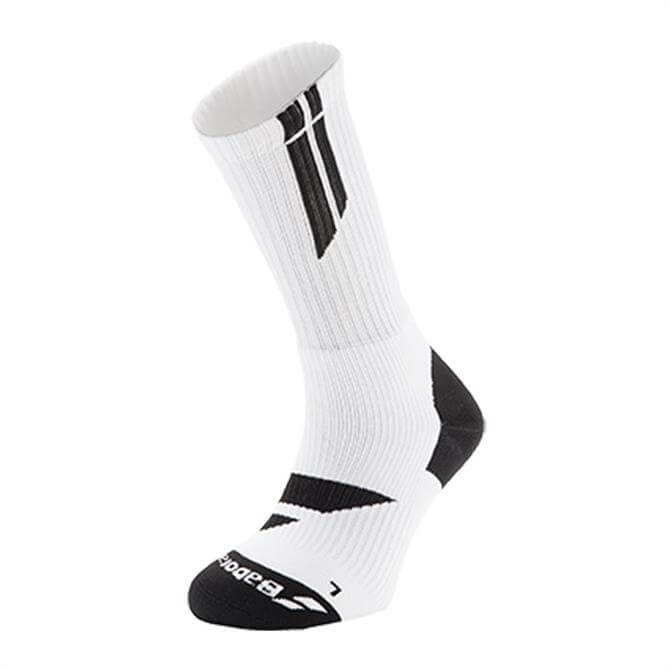 Babolat Men's Team Big Logo Socks- Black/White