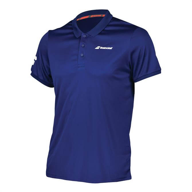 Babolat Men's Core Club Tennis Polo Shirt- Estate Blue