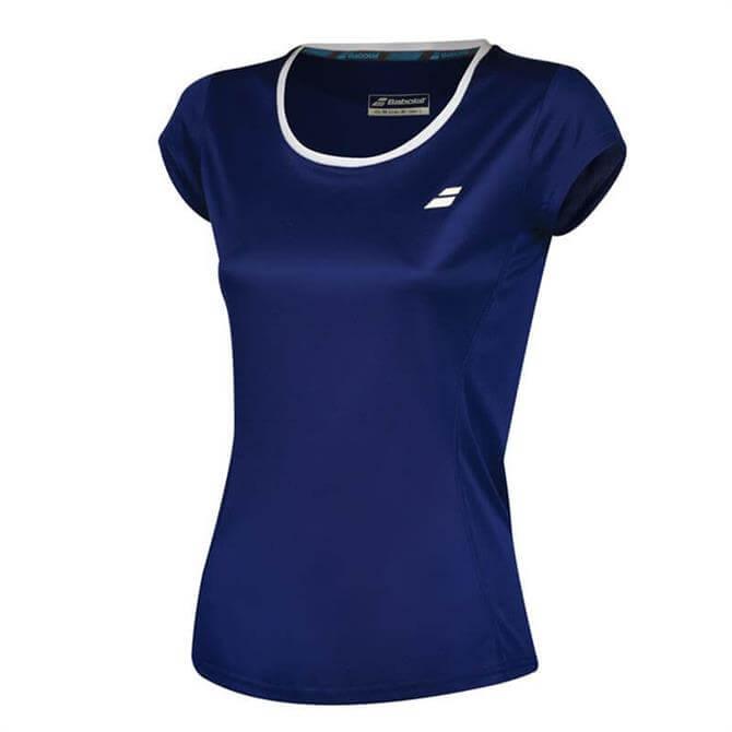 Babolat Women's Core Flag Club T-Shirt- Estate Blue
