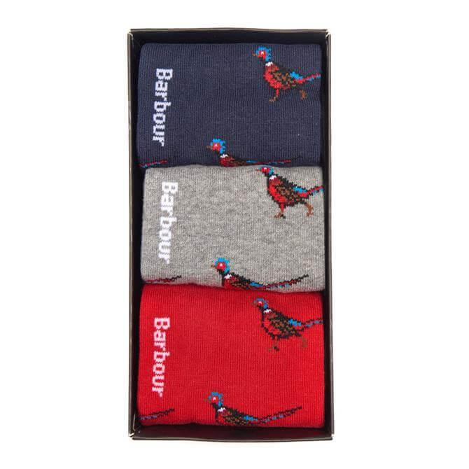 Barbour Pheasant Sock Gift Set