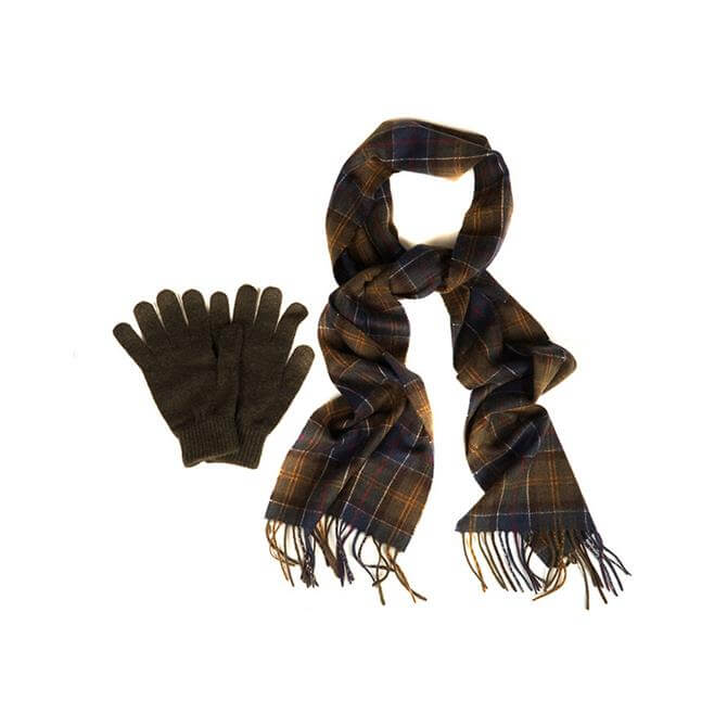Barbour Scarf & Gloves Gift Box Set