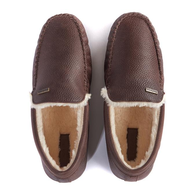 Barbour Monty Moccasin Leather Slippers