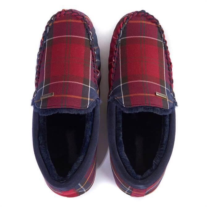 Barbour Monty Moccasin Tartan Slippers