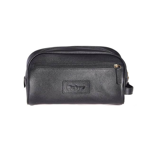 Barbour Luxury Leather Washbag