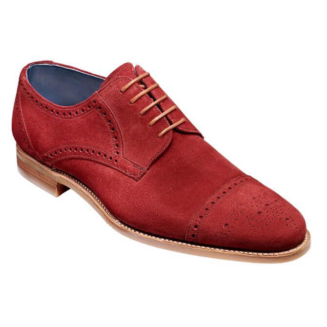 Barker Nixon Derby Shoe - Burgundy Suede