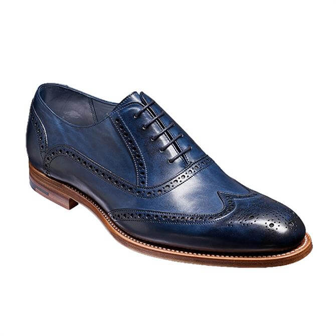 Barker Valiant Brogue Shoe, Navy