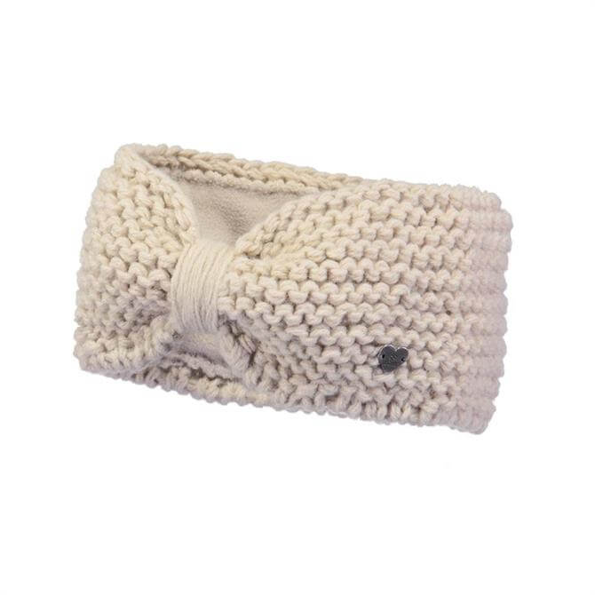 Barts Ginger Knitted Winter Headband- Cream