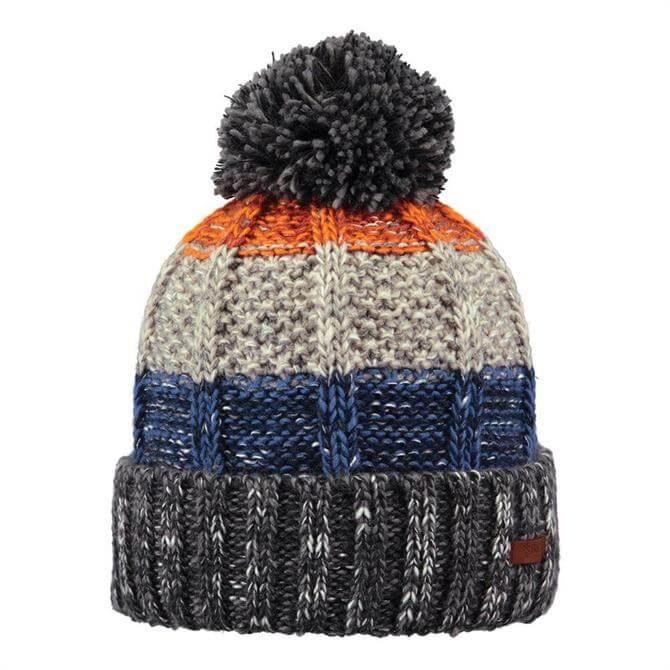Barts Vista Winter Knitted Beanie Hat- Grey