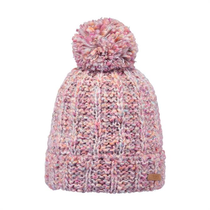 Barts Myla Knitted Winter Beanie Hat- Pink