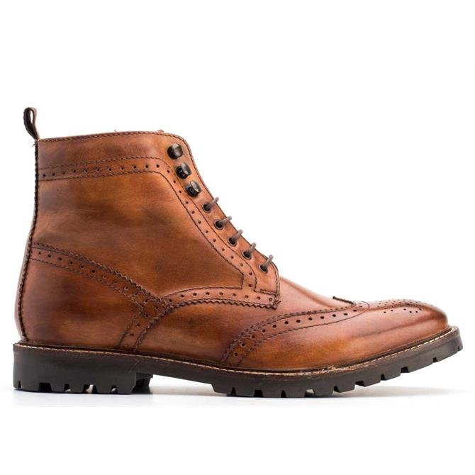 Base London Tan Troop Washed Boots