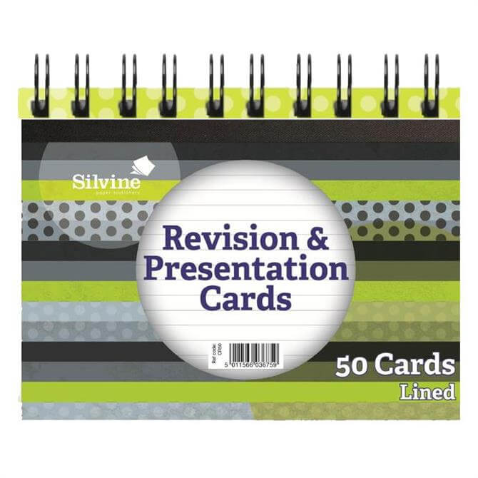 Silvine Twin Wire Spiral Bound Revision Cards
