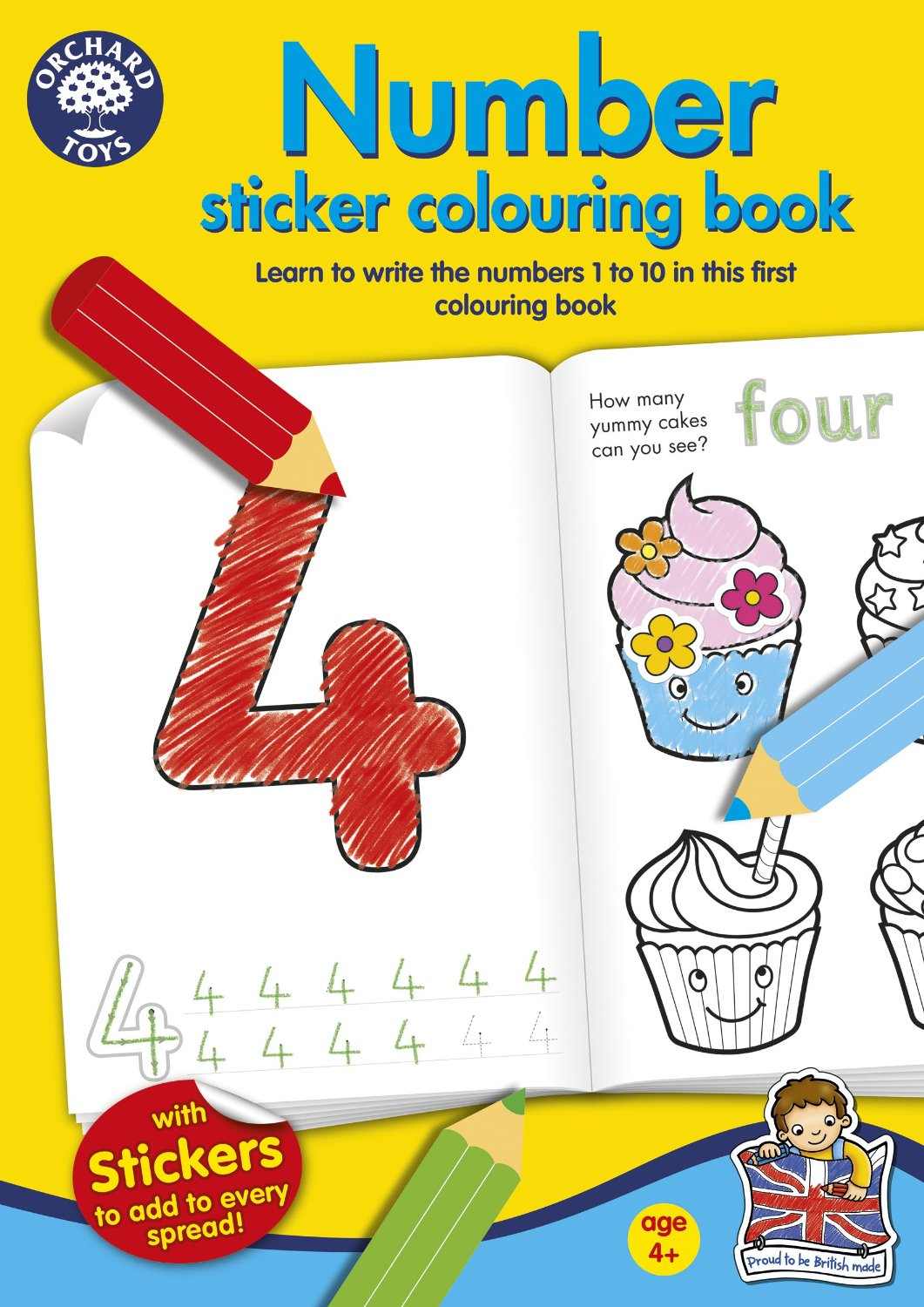 An image of Orchard Toys Number Colouring Book