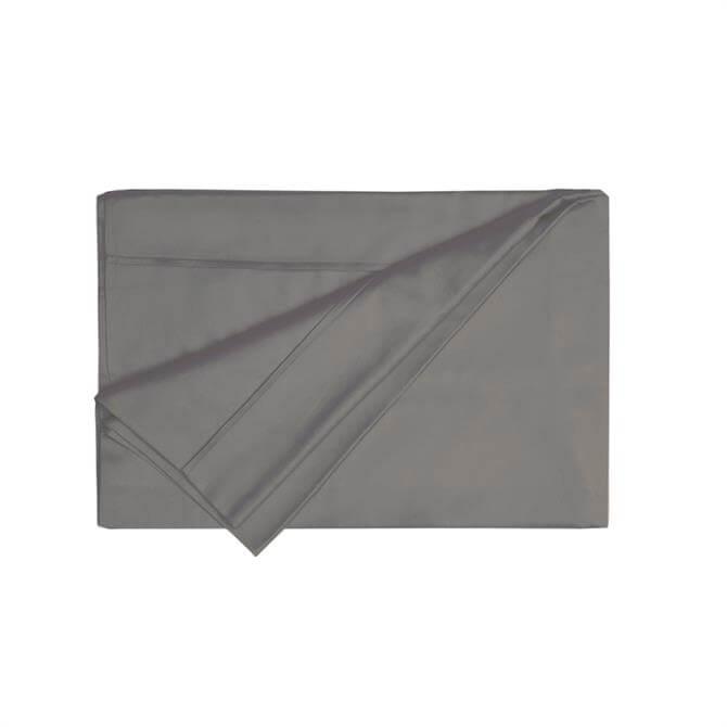 Belledorm Egyptian Cotton Thread Count 200 Slate Flat Sheet