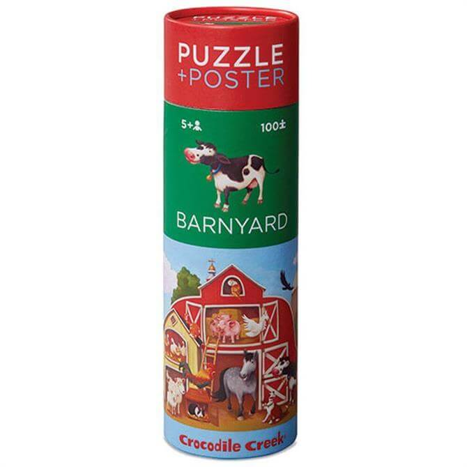 Crocodile Creek 100 Piece Puzzle & Poster Barnyard