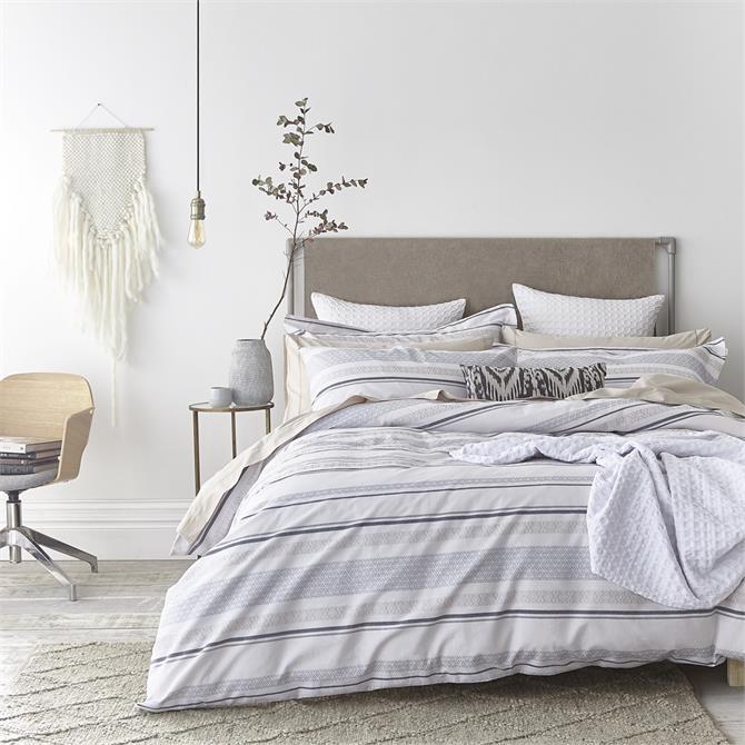 Bianca Stripe Cotton Weave Duvet Set