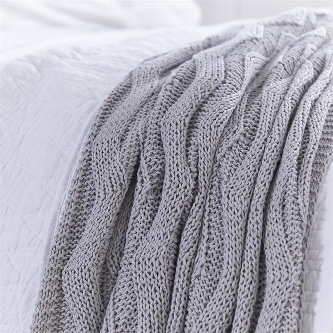 Bianca Soft Knit Grey Throw
