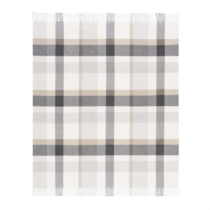 Biederlack Plaid Check Wool Throw