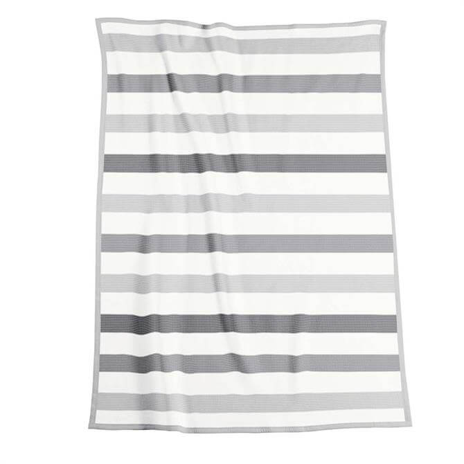 Biederlack Sophisticated Grey Striped Throw