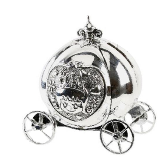 An image of Widdop Bambino Silver Plated Coach Moneybox
