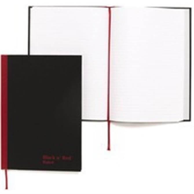 Black n Red Book A5 Feint