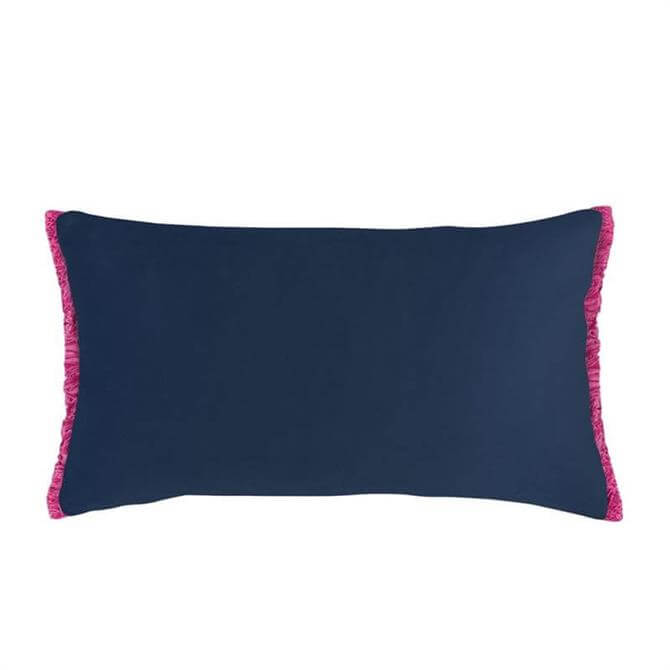 Bluebellgray Midnight Velvet Fringe Cushion