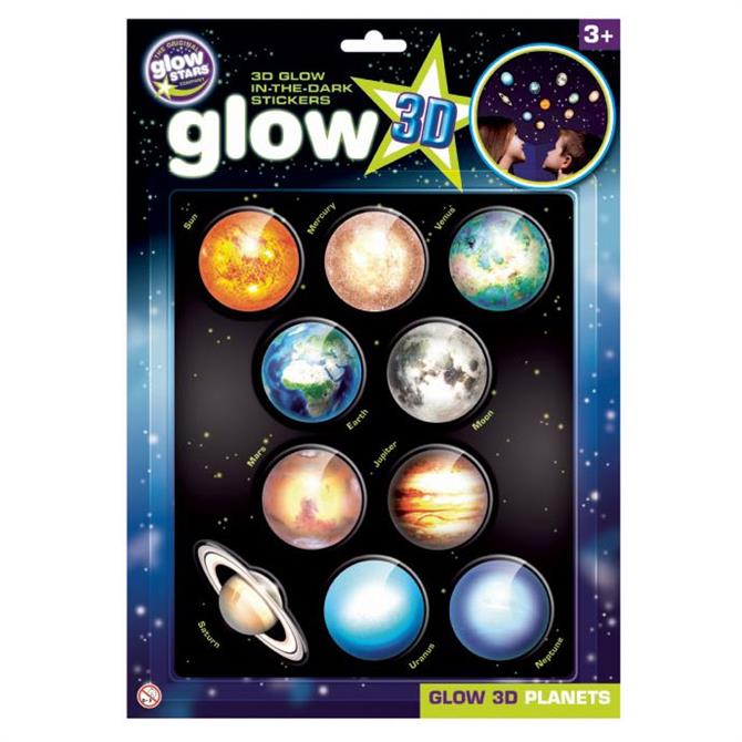 Brainstorm Large Glow 3D Stickers