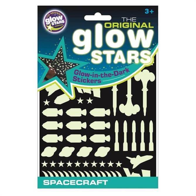 Brainstorm Glowsters Spacecraft Stickers