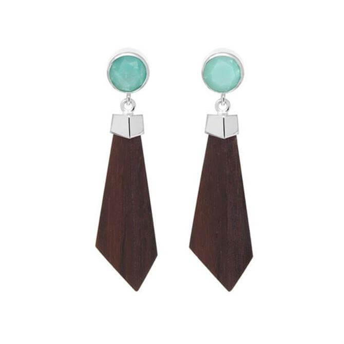 Branch Amazonite Valencia Drop Earrings