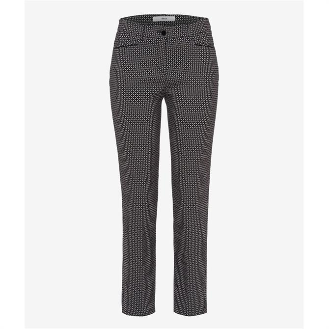 Brax Maron Jacquard City Trousers
