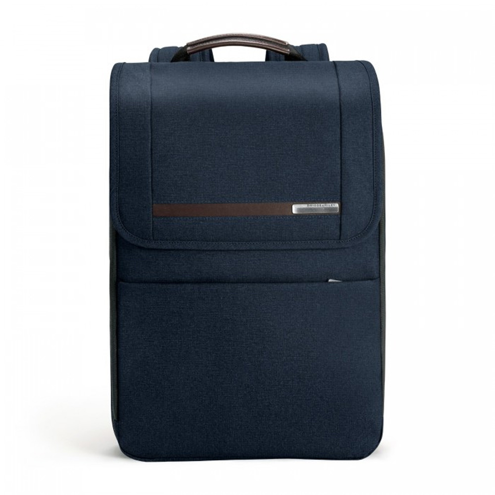 An image of Briggs & Riley Kinzie Street Flapover Expandable Backpack - Navy - NAVY
