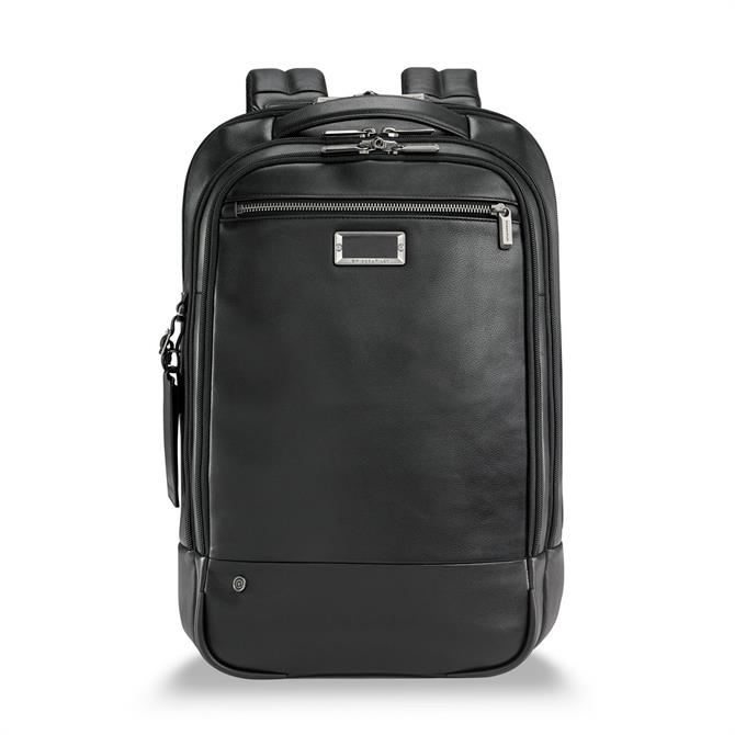 Briggs & Riley At Work Leather Business Backpack - Black
