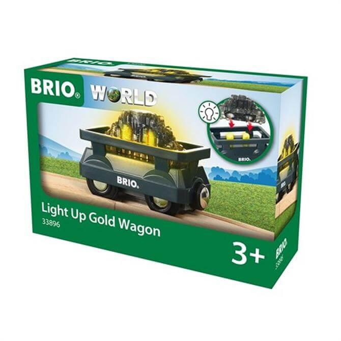 Brio World Light Up Gold Wagon