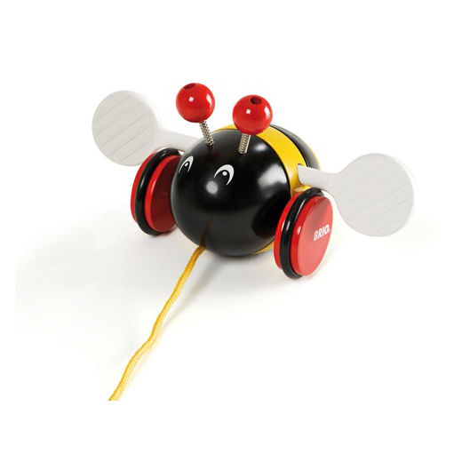 An image of Brio Pull-along Bumblebee
