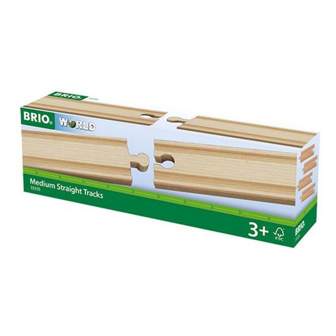 Brio Medium Straight Tracks 144mm