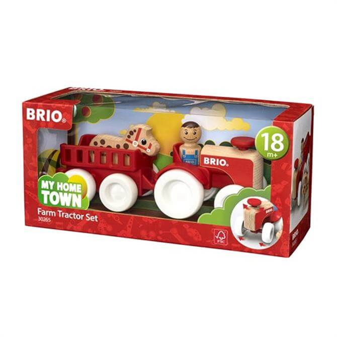 Brio My Home Town Farm Tractor Set