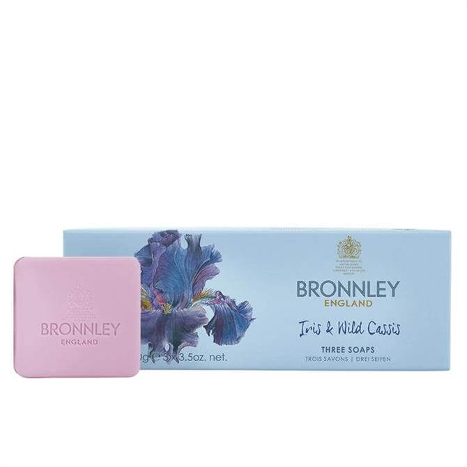Bronnley Iris & Wild Cassis Soap Collection 3 x 100g