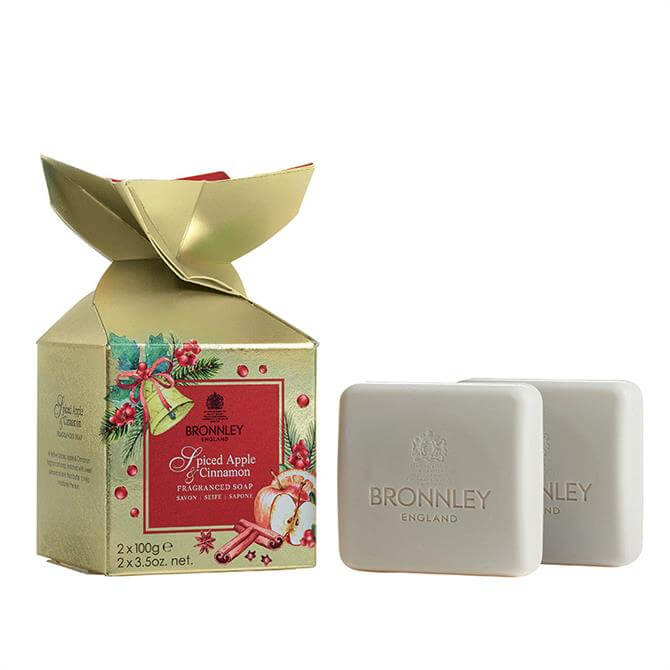 Bronnley Christmas Spiced Apple & Cinnamon Soap Duo Cracker 2 x 100g