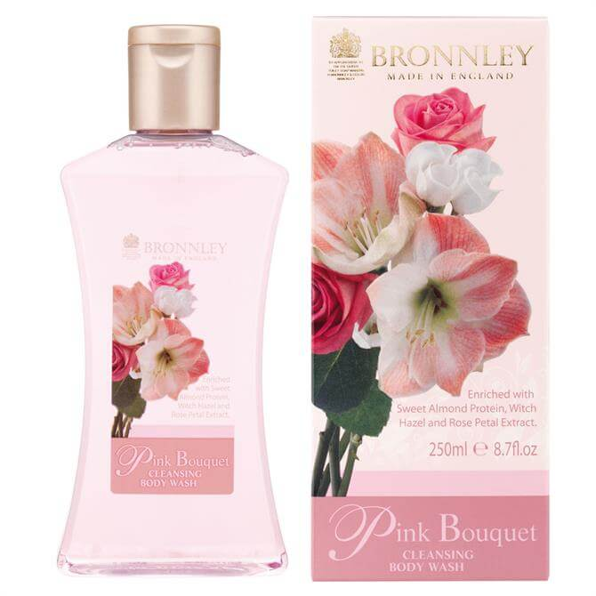 Bronnley Pink Bouquet Cleansing Body Wash 250ml