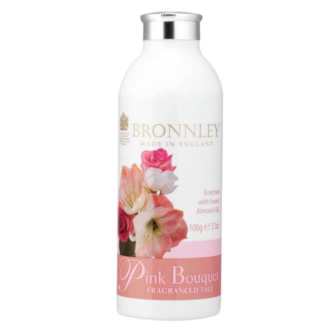 Bronnley Pink Bouquet Fragranced Talc 100g