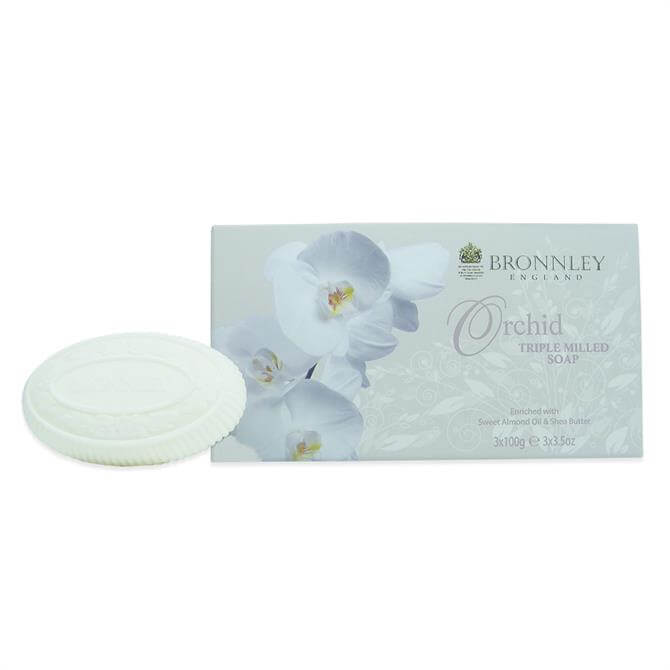 Bronnley Orchid Triple Milled Fine Eng Soap 3X100g